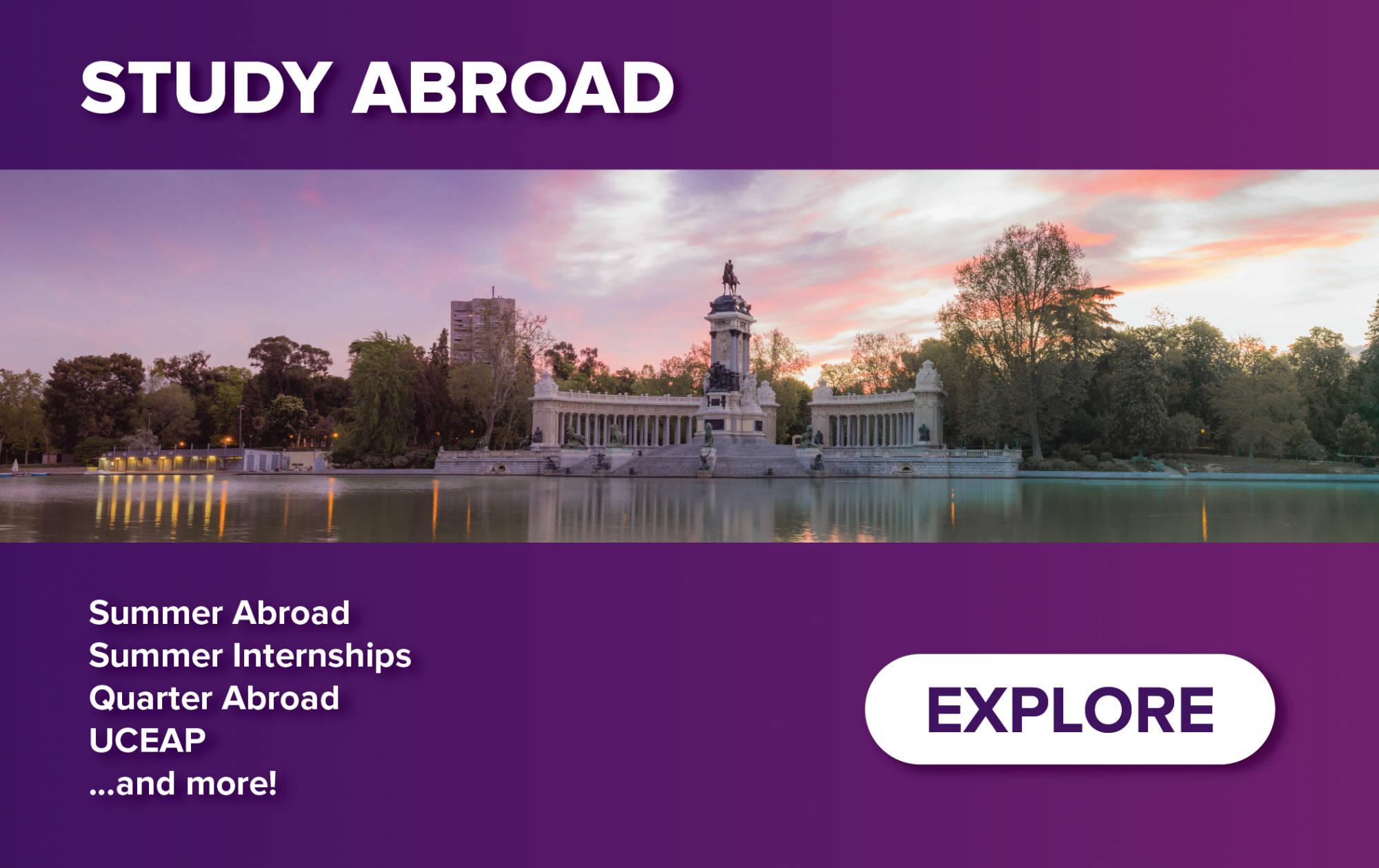 Homepage Teaser Image - Study Abroad Portal - Summer Abroad; Summer Internships; Quarter Abroad; UCEAP; and more